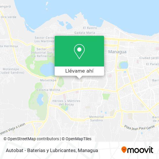 Mapa de Autobat - Baterias y Lubricantes