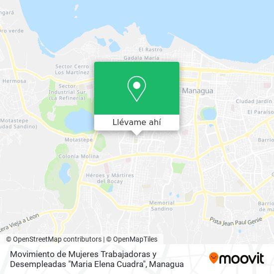 """Mapa de Movimiento de Mujeres Trabajadoras y Desempleadas """"Maria Elena Cuadra"""""""