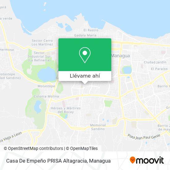 Mapa de Casa De Empeño PRISA Altagracia