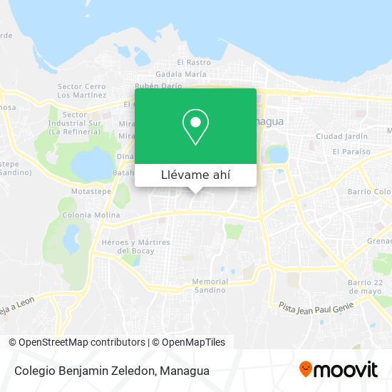 Mapa de Colegio Benjamin Zeledon