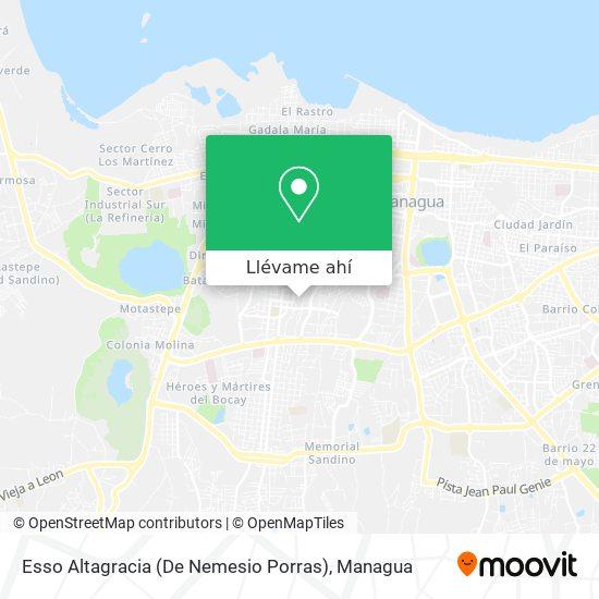 Mapa de Esso Altagracia (De Nemesio Porras)
