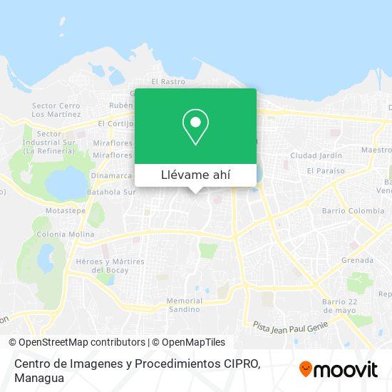 Mapa de Centro de Imagenes y Procedimientos CIPRO