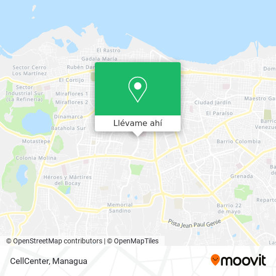 Mapa de CellCenter