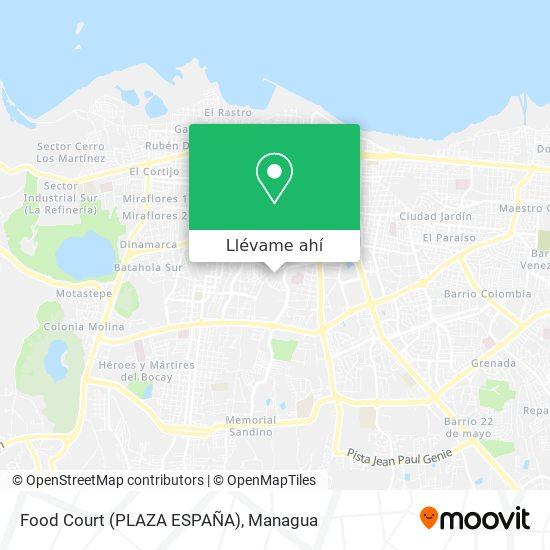 Mapa de Food Court (PLAZA ESPAÑA)