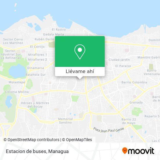 Mapa de Estacion de buses