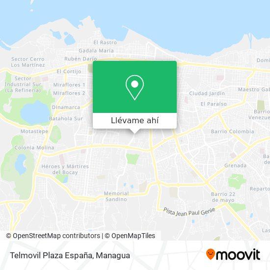 Mapa de Telmovil Plaza España