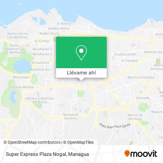 Mapa de Super Express Plaza Nogal