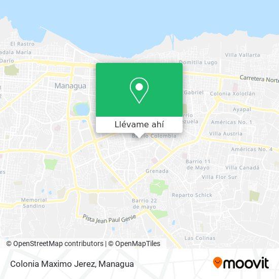 Mapa de Colonia Maximo Jerez