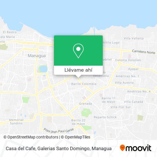 Mapa de Casa del Cafe, Galerias Santo Domingo