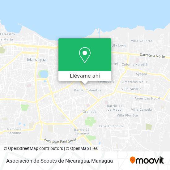 Mapa de Asociación de Scouts de Nicaragua
