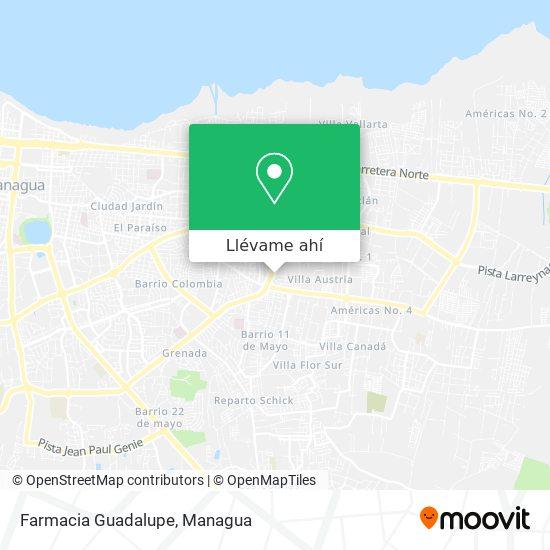 Mapa de Farmacia Guadalupe