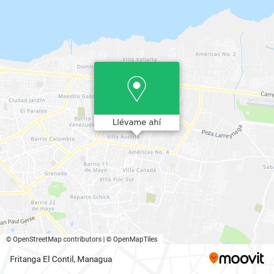 Mapa de Fritanga El Contil