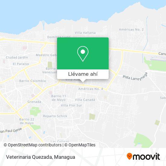 Mapa de Veterinaria Quezada