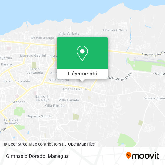 Mapa de Gimnasio Dorado