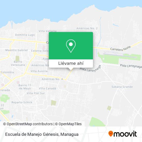 Mapa de Escuela de Manejo Génesis