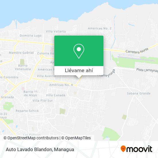Mapa de Auto Lavado Blandon