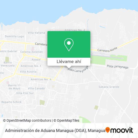 Mapa de Administración de Aduana Managua (DGA)
