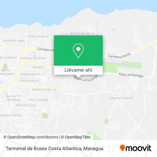 Mapa de Termimal de Buses Costa Atlantica