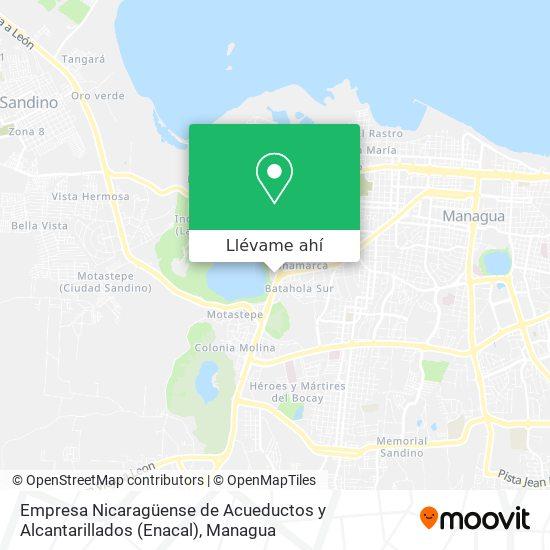 Mapa de Empresa Nicaragüense de Acueductos y Alcantarillados (Enacal)