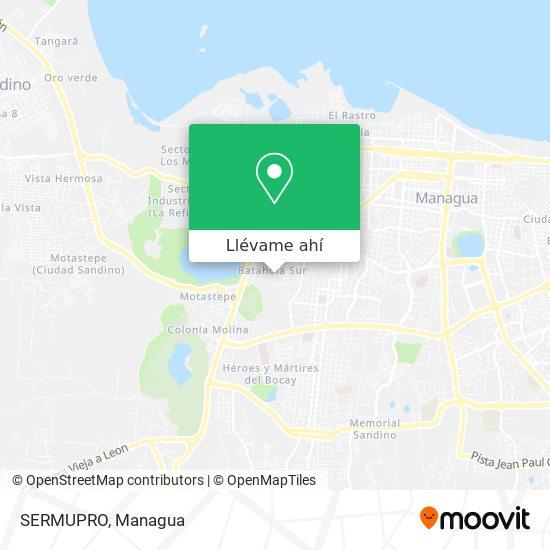 Mapa de SERMUPRO