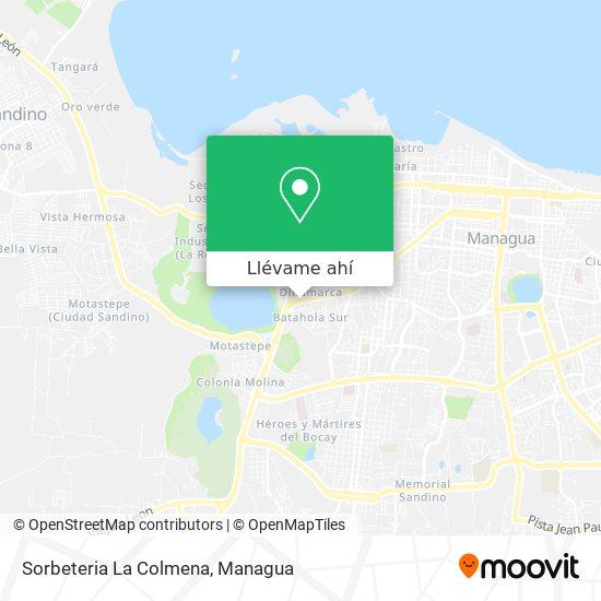 Mapa de Sorbeteria La Colmena