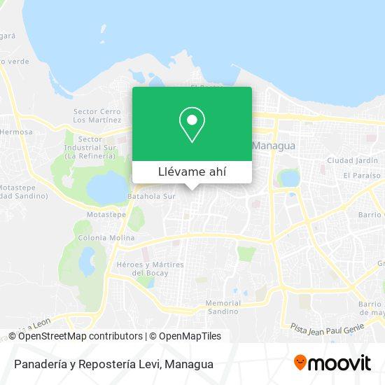Mapa de Panadería y Repostería Levi