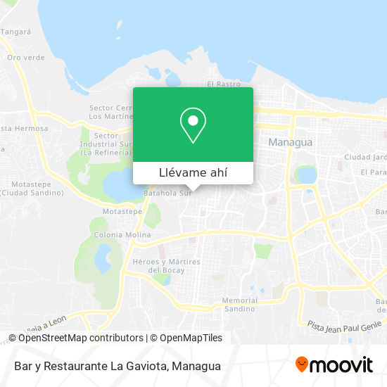 Mapa de Bar y Restaurante La Gaviota