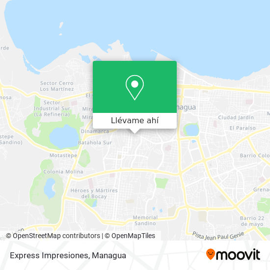 Mapa de Express Impresiones