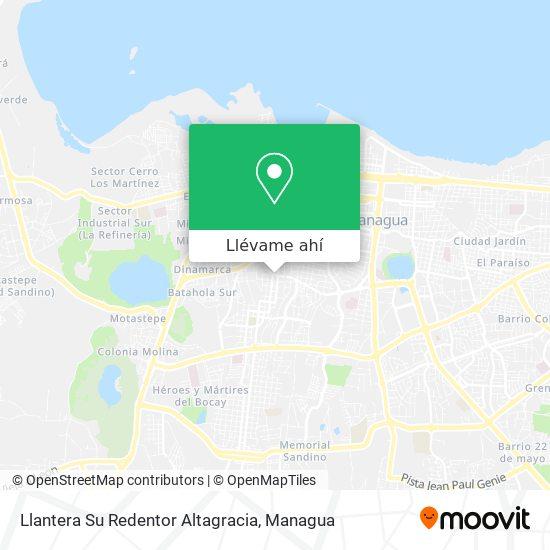 Mapa de Llantera Su Redentor Altagracia