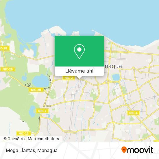 Mapa de Mega Llantas