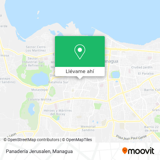Mapa de Panadería Jerusalen