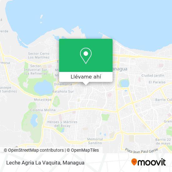 Mapa de Leche Agria La Vaquita
