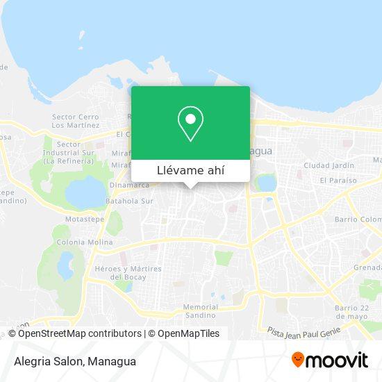 Mapa de Alegria Salon