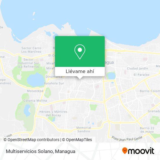 Mapa de Multiservicios Solano