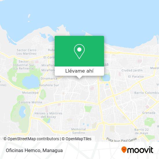 Mapa de Oficinas Hemco