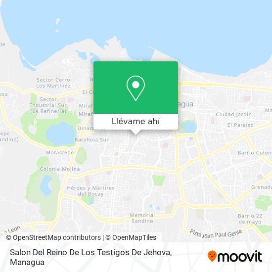 Mapa de Salon Del Reino De Los Testigos De Jehova