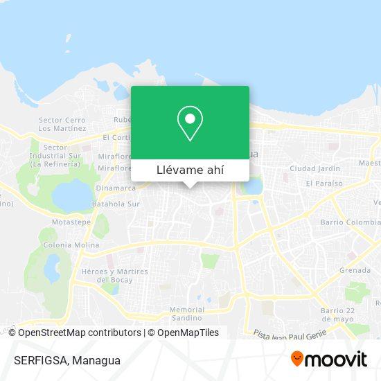 Mapa de SERFIGSA