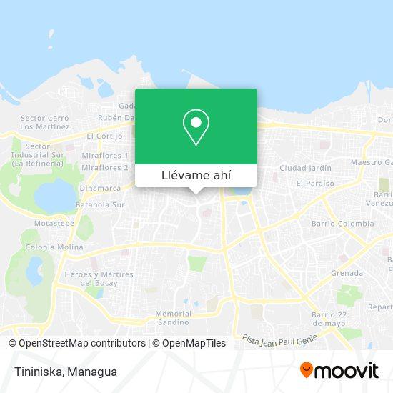 Mapa de Tininiska