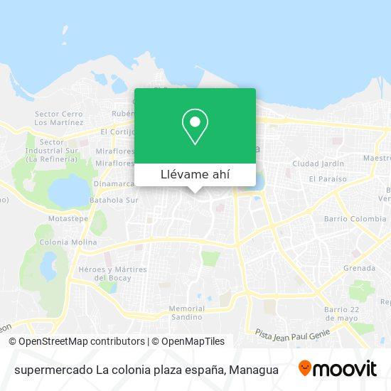 Mapa de supermercado La colonia plaza españa