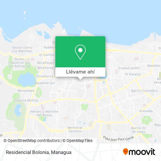 Mapa de Residencial Bolonia