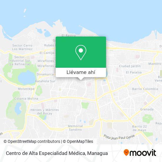Mapa de Centro de Alta Especialidad Médica