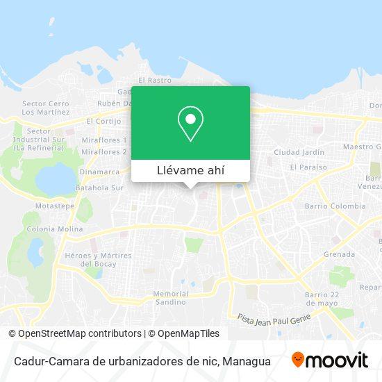 Mapa de Cadur-Camara de urbanizadores de nic