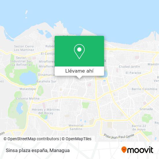 Mapa de Sinsa plaza españa