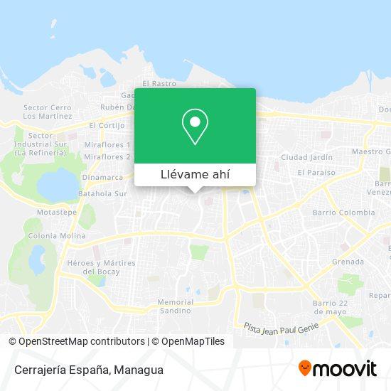 Mapa de Cerrajería España