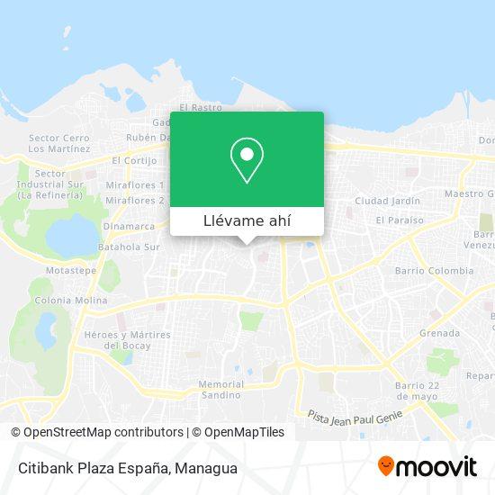 Mapa de Citibank Plaza España