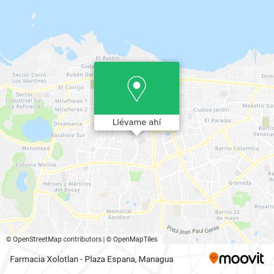 Mapa de Farmacia Xolotlan - Plaza Espana
