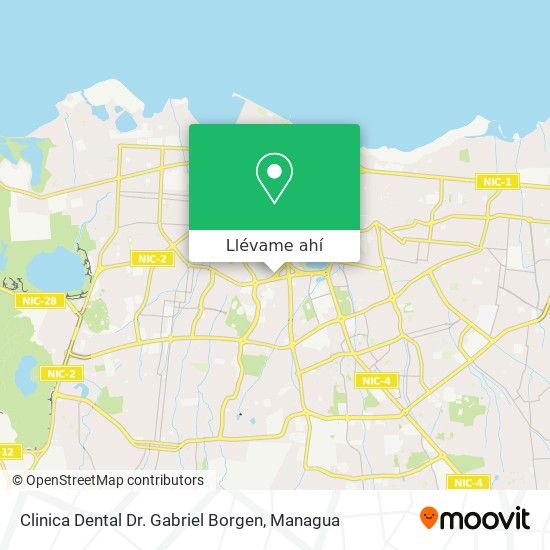 Mapa de Clinica Dental Dr. Gabriel Borgen