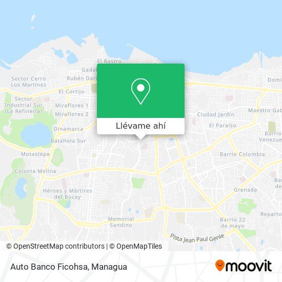 Mapa de Auto Banco Ficohsa
