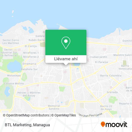 Mapa de BTL Marketing