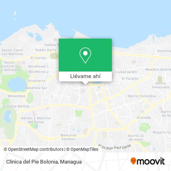 Mapa de Clínica del Pie Bolonia